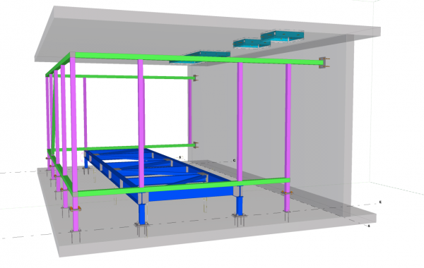 Frame for mechanical room, Burnaby, BC